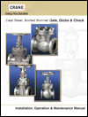 AIV Master Valve Distributor for Crane Valves - Crane Valves Catalogs - Cast Steel Installation and Operation Manual