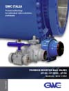 AIV Master Valve Distributor for GWC Italia SpA - Trunnion Mounted Ball Valves - GWC Trunnion Mounted Ball Valves